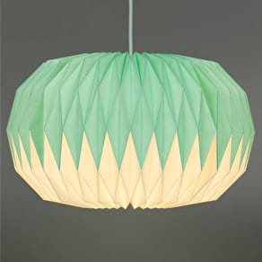 Mint Green Ombre Paper Origami Lampshade