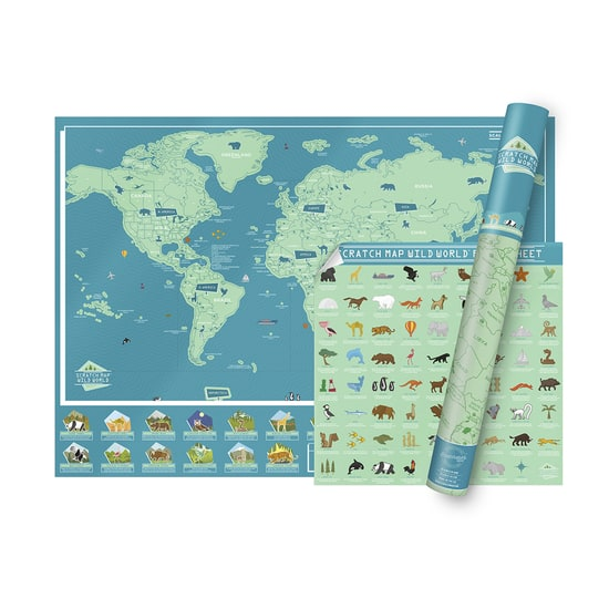 Scratch Map® Wild World