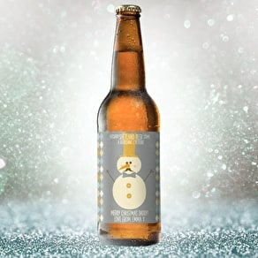 Personalised Snowman Beer