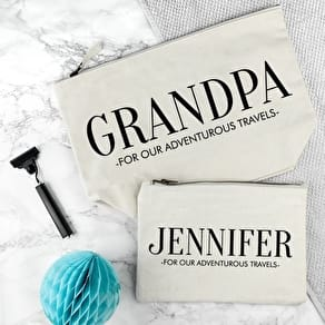 Personalised Grandad And Me Washbags