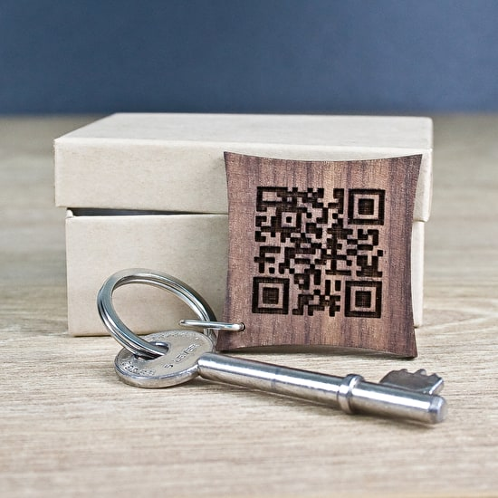 Personalised Secret Message Qr Code Keyring