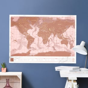 Rose Gold Scratch Map