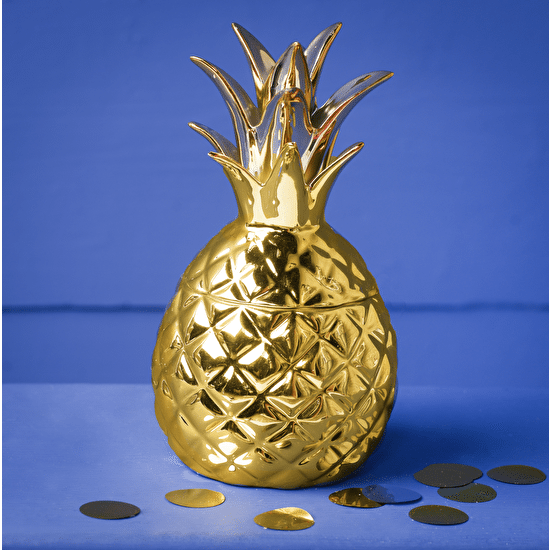 Gold Pineapple Keepsake Jar