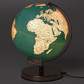 Blue And Gold Illuminated Globe