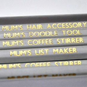 Mum's Personalised Pencils