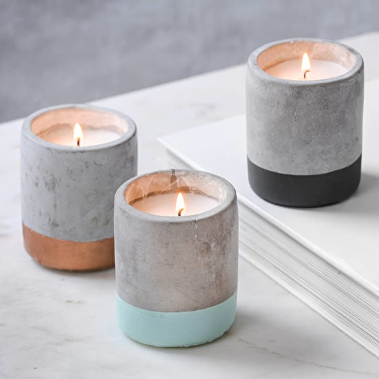 Small Concrete Scented Candle