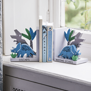Personalised Dinosaur Wooden Bookends