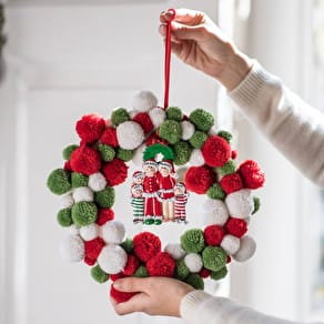 Pom Pom Wreath with Personalised Decoration
