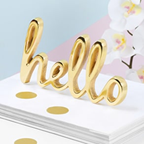 Gold Hello Decorative Word