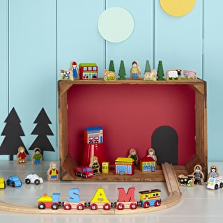 Shops And People Wooden Play Set