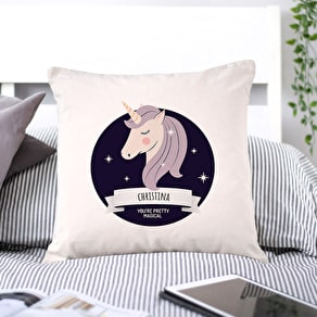 Personalised Unicorn Magical Cushion Cover