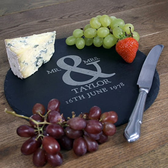 Personalised Ampersand Slate Cheese Board