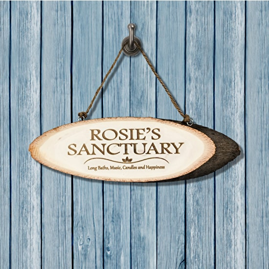 Personalised 'Sanctuary' Wooden Sign