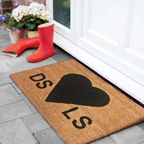 Personalised Love Heart Doormat