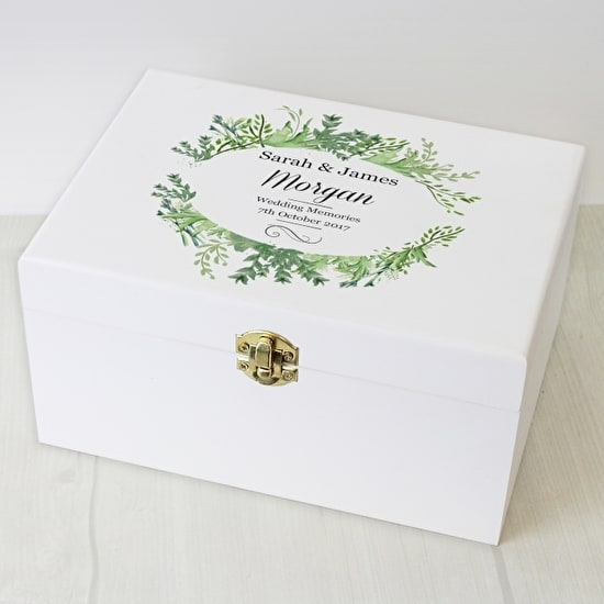 Personalised Botanical Keepsake Box
