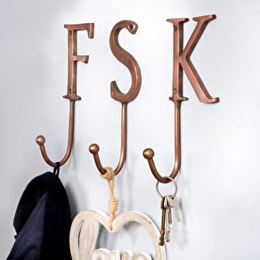 Copper Alphabet Hooks