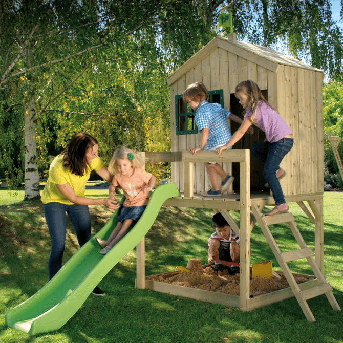 TP Forest Cottage playhouse with slide