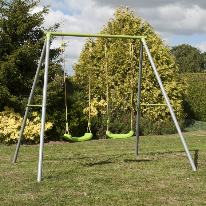 TP Double metal swing frame with seats