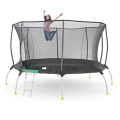 14ft TP Genius Octagonal2 Trampoline With Igloo Door Entry