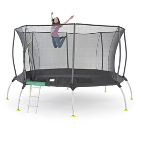 TP Genius Octagonal2 14ft Trampoline With Igloo Door Entry